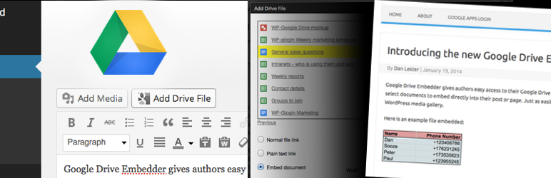 Плагины для WordPress: Google Drive