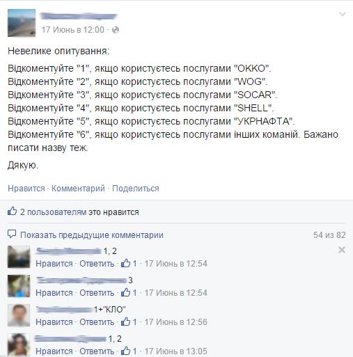 Опрос facebook