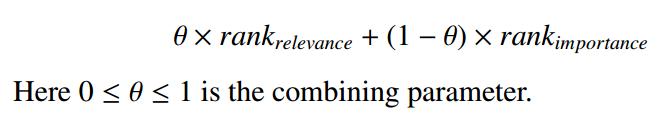 Соотношение релевантности и важности при ранжировании