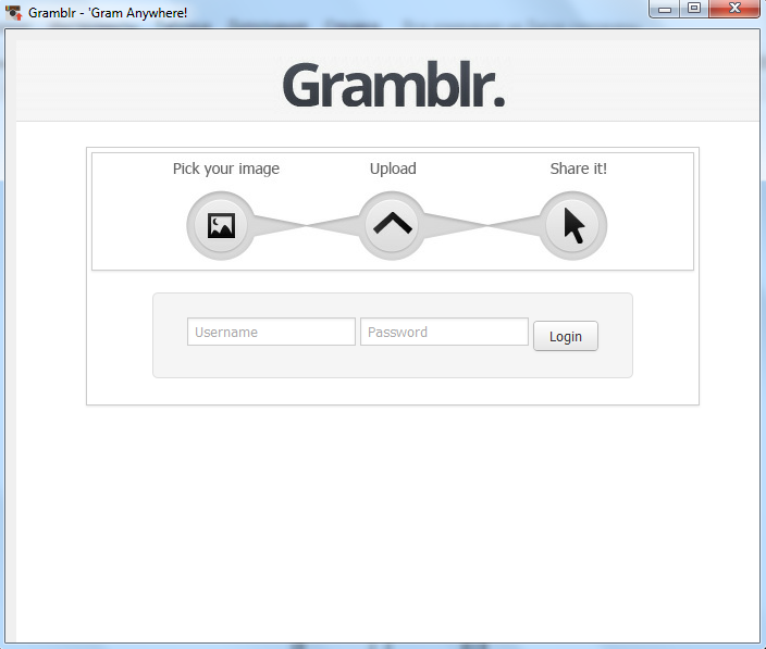 Gramblr авторизация